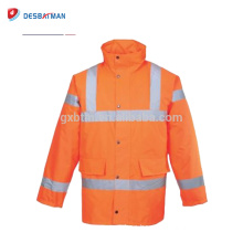 High Visibility Winter Parka Waterproof Clothing Safety Reflective Jacket