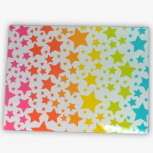 Heißer Verkauf Schneidebretter mit Sternen 4c Druck Aufkleber