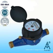 Compteur d'eau en laiton IP68 Multi Jet Type sec