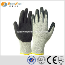 sunnyhope HPPE+glass fiber mixed liner cut resistant safety working gloves