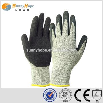 Sunnyhope HPPE + gaine en fibre de verre mélangé garniture résistant aux coupures des gants de sécurité