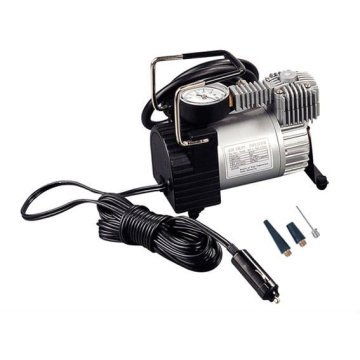 12V tire inflator with gauge
