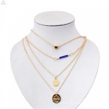 Nouveaux modèles de bijoux en 3 10 12 grammes couche disque or collier