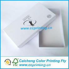 Customized white gift boxes with lids