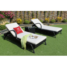 Poly Rattan Sun Lounger For Outdoor Garden