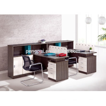 brown 1.2m two seater brown workstation