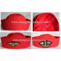 Red color wholesale cotton sailor cap hat for unisex
