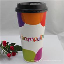 Copo de café de papel descartável 12oz com tampa