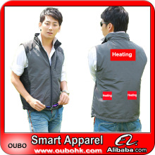New product custom mens cheap winter waistcoats with electric heating system heated clothing warm OUBOHK