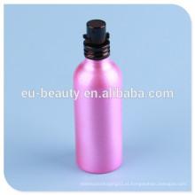 Brilhante frasco de perfume de alumínio de revestimento com frasco de perfume de parafuso