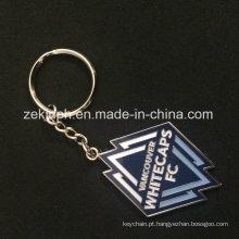 O esmalte macio do metal liga de zinco projeta a lembrança Keychain