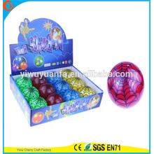 High Quality Kid's Toy 65mm Rubber LED Flashing Spider Web Light-up Hi Bouncing Ball