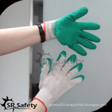 SRSAFETY smooth latex palm coated cheap labor work glove