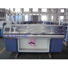 Máquina de confecção de malhas lisa automatizada automática do sistema do dobro do calibre 9 com sistema do pente