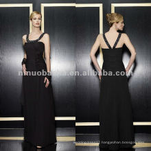 NY-1966 Two tone chiffon a-line with drop waist mother dress