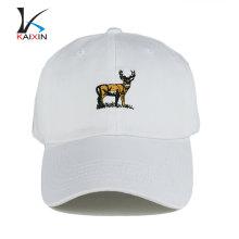 gorra de béisbol blanca en blanco con su propio diseño de algodón gorra y sombrero de deporte barato