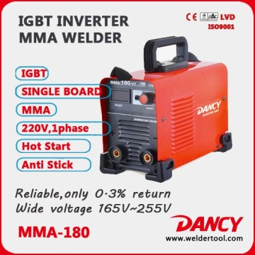 DC inverter 5.7kw mma welder machine ZX7-180