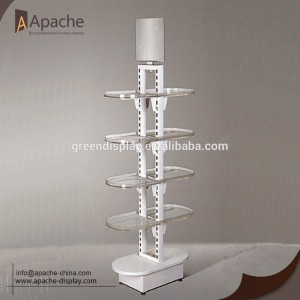 Double sides acrylic&metal supermarket display stand