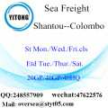 Shantou Port Sea Freight Versand nach Colombo