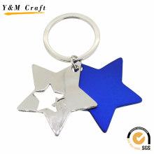 Linda estrela de metal forma chaveiro (y02620)
