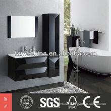 MDF Bathroom Cabinet Glossy Black MDF Bathroom Cabinet