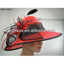 Sombrero nupcial sinamay de la manera