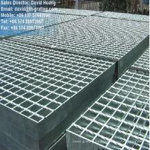 Acero galvanizado, placas de rejilla para piso