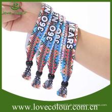 Neue kommende wegwerfbare farbige Gewebe-Armbänder für Partei