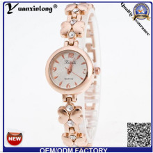 Yxl-408 2016 New Geneva Rhinestone Alloy Quartz Watch Fashion Wrist Watches Gold Plate Lady Watch Wrist