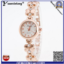 Yxl-803 Hottest New Slim Geneva Ladies Watch, Big Dial Women Watch Rose Gold Watchcase
