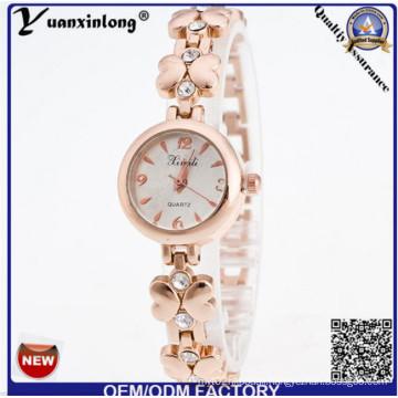 Yxl-408 2016 New Geneva Rhinestone Alloy Quartz Watch Fashion Wrist Watches Gold Plate Lady Watch Wrist