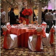 100% poliéster cadeira tampa, tampas da cadeira do hotel/banquete, faixa laranja