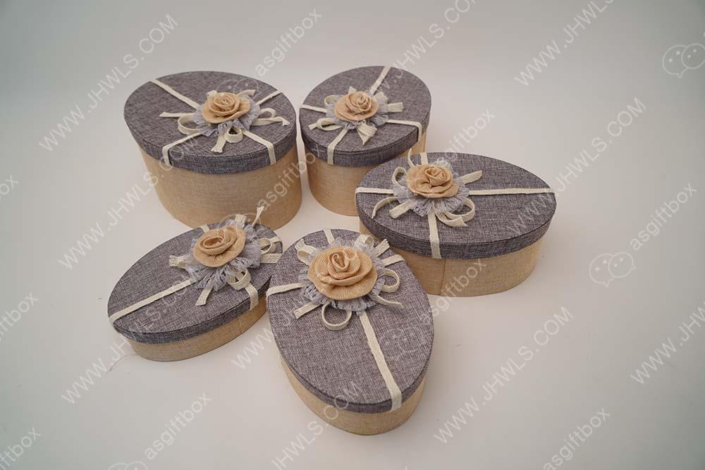Cotton Fabric Hat Box