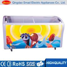 538 литров мороженого стеклянной двери большой емкости морозильник