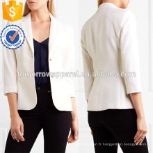 Iovry Stretch Laine Blazer Blazer OEM / ODM Fabrication En Gros Mode Femmes Vêtements (TA7005J)