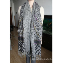 100%cashmere double printed shawls