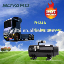 R134a 24v compressor ac elétrico para sistema de arrefecimento de ar cabina caminhão