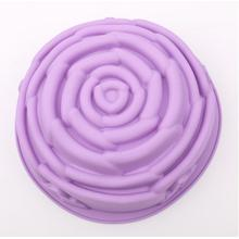 Big Purple Rose Silicone Khuôn Pan Mì