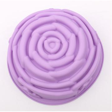 Big Purple Rose Silicone Baking Pan Molde