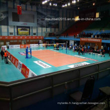 Revêtement intérieur / extérieur en PVC à l'intérieur / extérieur / Roll / Tile Volleyball Flooring