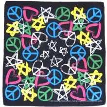 OEM produzieren preiswerten kundengebundenen Entwurfs-Firmenzeichen gedruckten Baumwollkopf-Verpackungs-Bandana