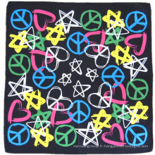 OEM Produce Cheap Customized Design Logo imprimé Cotton Head Wrap Bandanna
