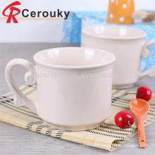 FDA food grade white ceramic mug customized logo mug cheap white coffee mug for coffee bar