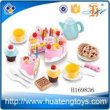 H169836 Novo produto shantou pré-escolar hight chá conjunto DIY brinquedo de bolo plástico para crianças