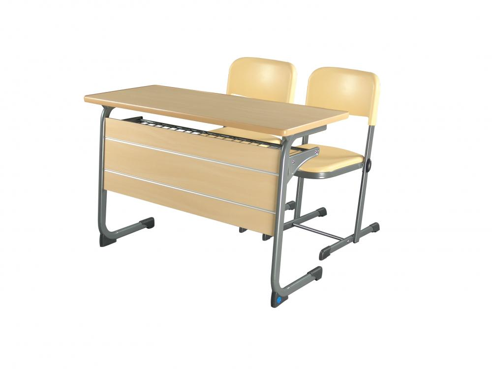 Double High Quality Stundent Chair And Desk