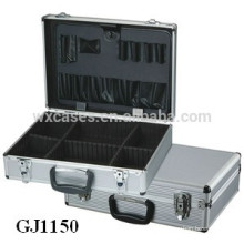 strong&portable Aluminum Tool Case With Fold-down Tool Pallet and Adjustable Compartments Inside