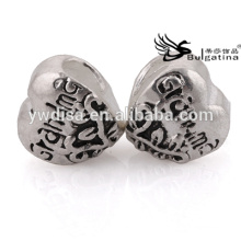 Perles en métal en forme de coeur en vrac Vente avec prix bon marché Vente en gros de nouvelles perles Nickel & Lead Free Hot