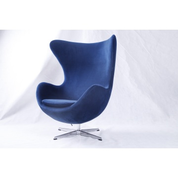 Blue Velvet Arne Jacobsen Egg Chair réplica