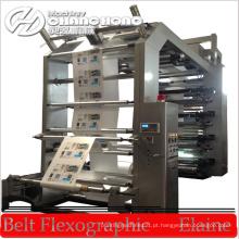 Máquina de impressão flexográfica de alta velocidade e 6 cores para tipografia