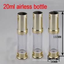 20ml Gold Airless Alu/Plastic Pump Cosmetic Packaging Bottle